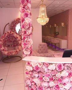 How amazing! We designed this salon and installed all the upholstery. Featuring full upholstered makeup wall with Led and bespoke unit. Spa Room Decor, Beauty Room Decor, Beauty Salon Decor, Beauty Bar, Nail Salon Design, Nail Salon Decor, Salon Interior Design, Makeup Studio Decor, Esthetics Room