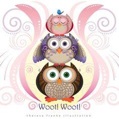 Owl Stacker - Theresa Franke