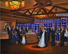 ... wedding #bride #groom #painting #painter #firstdance #unique #gift #