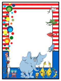 1000 images about dr seuss on pinterest dr seuss the for Dr seuss birthday card template