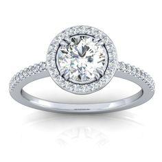 1 Carat Engagement Rings Halo Setting 18
