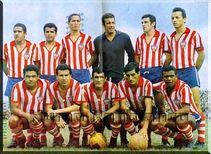 El Atlético Junior de 1968 en El Pulso del Fútbol Arriba (Izq-Der): Segovia, Mario Moreno, Segrera, Mario Thull, Nelson Días y Carlos Peña. Abajo (Izq-Der): Garrincha, Serrano, Ayrton, Oswaldo Pérez y Lima.
