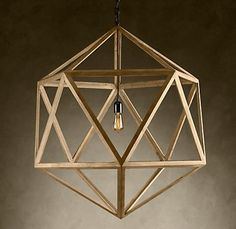 Wood Polyhedron Pendant Large  $695