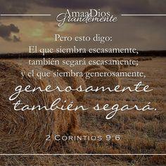 El principio eterno de la siembra y la cosecha