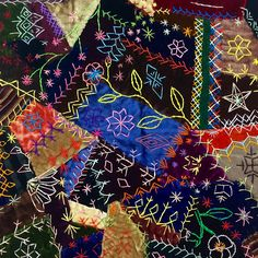 Vintage crazy quilt block: Telling Stories Through the Needle's Eye
