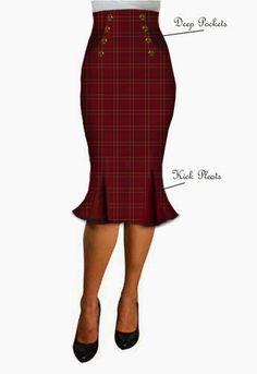 rockabilly skirt