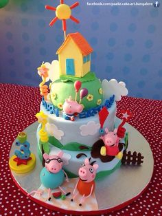 peppa pig birthday cake - Google Search