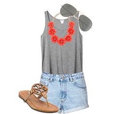 summer outfit - i literally just bought that necklace (in a different color though)