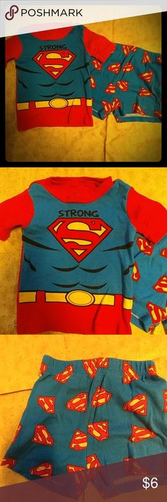 Superman PJ's. (4T) Superman Pajamas Size : 4T  These have been worn but still have a lot of life left in them. other Pajamas Pajama Sets