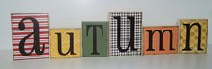 wood blocks......made some similar to this at the Andalusia pinterest carnival... great fun!