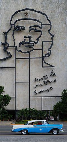 """Plaza de la Revolución, in Havana, Cuba. """"Hasta la Victoria Siempre."""""""