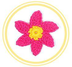 #Flor de Seis Pétalos a #Crochet 3 (chica) | #PatronesValhalla