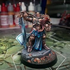 First Stormcast eternal from Shadespire. Severin Steelheart. My first semi-serious attempt to paint non-metallic metallics along with the…