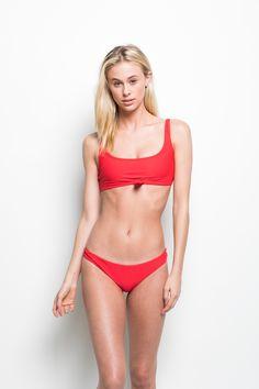 0aad670c4a Greer Top Red. Greer Top Red    Frankie s Bikinis    Ophelia Swimwear