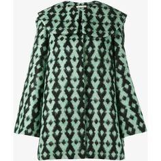 Emilia Wickstead Capulet Alpaca Merino Wool Blend Pea Coat ($2,740) ❤ liked on Polyvore featuring outerwear, coats, peacoat coat, alpaca wool coat, emilia wickstead, pea jacket and alpaca coats