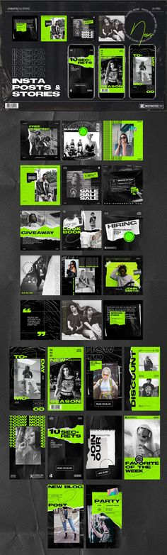 New stylish trendy neon posts and animated stories Web Design, Game Design, Layout Design, Instagram Design, Mode Instagram, Instagram Posts, Instagram Banner, Instagram Creator, Social Media Template