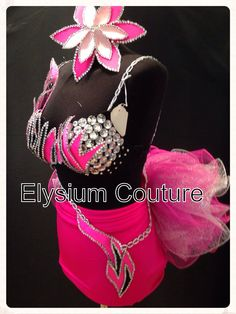 Dance wear diamanté outfit