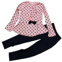 ASHERANGEL Baby Girl Cute 2pcs Set Children Clothes Suit Top and Pants (Age(5T), Pink Dot) - Top's Size Chart: Age(2t):Length:14.3″,Shoulder:7.8″,Sleeve:11.3″ Age(3t):Length:14.7″,Shoulder:8.6″,Sleeve:12.5″ Age(4t):Length:15.5″,Shoulder:9.1″,Sleeve:13.3″ Pant's Size... - http://ehowsuperstore.com/bestbrandsales/clothing/asherangel-baby-girl-cute-2pcs-set-children-clothes-suit-top-and-pants-age5t-pink-dot