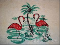 chenille flamingo rugs at www.nopatternrequired.ocm