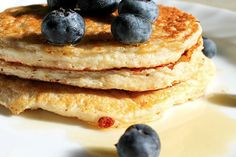"""It sounds like """"Trim Healthy Mama Pancakes"""" might be anoxymoron...but it's not! These little treats are the most fabulous pancakes sure to please the whole family with no worries of a drop in blood sugar after consuming a mountain at breakfast! W"""