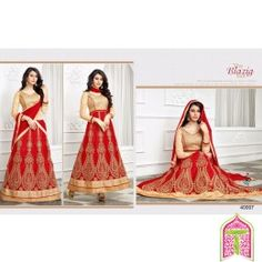 SemiStitched - The Blazig Sun Gold With Red Color 2 in 1 Designer lehanga choli - By Thambi shopping