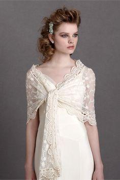 Heirloom Bridal Shawl by BHLDN