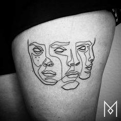 Voici un tatoueur germano-iranien de talent, Mo Ganji qui réalise des tatouages simples avec un fort impact.