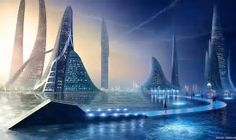 Image result for Futuristic Alien Cities