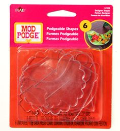 They are finally here! Mod Podge ® Acrylic Shapes - Designer Shapes