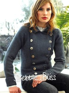 Military Jacket in Debbie Bliss Rialto Aran - Downloadable PDF. Discover more patterns by Debbie Bliss at LoveKnitting. The world's largest range of knitting supplies - we stock patterns, yarn, needles and books from all of your favourite brands.
