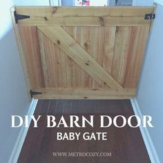 68 Super Ideas For Pallet Barn Door Diy Stairs Baby Gate For Stairs, Barn Door Baby Gate, Barn Door Decor, Stair Gate, Diy Barn Door, Diy Door, Barn Door Hardware, Baby Barn, Pet Stairs