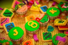 Colorful cookies on The Big Fat Indian Wedding