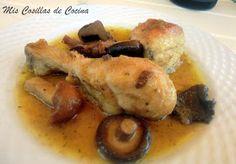 Pollo en salsa con setas - Mis Cosillas de Cocina