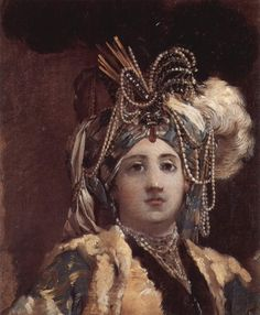 Joseph-Marie Vien (French 1716–1809) La Sultan reine, 1748. Oil on paper, 29.5 × 22.5 cm (11.6 × 8.9 in). Petit Palais, Paris.