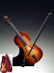 "9"" Cello Miniature Instrument #hiddentreasuresdecorandmore"