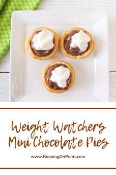 Weight Watchers Program, Weight Watchers Snacks, Weigh Watchers, Homemade Chocolate Pudding, Chocolate Pies, Craving Chocolate, Low Calorie Desserts, Ww Desserts, Ww Recipes