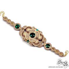 Set of bracelet and earringsSoutache by SBjewelrySoutache on Etsy