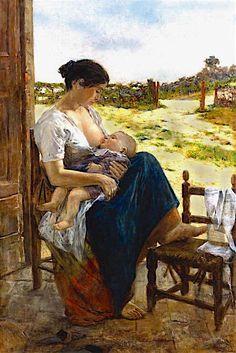 Adolfo Tommasi  (Livorno 1851 -Firenze 1933)  Maternità