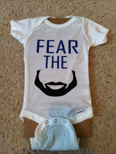 fear the beard onesie. baby. okc thunder. thunder basketball. okc basketball. thunder up. - $12