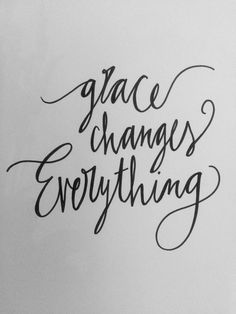 grace changes everything inspirational quote hand by OneStudioTwo