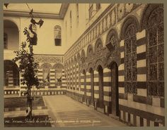 Maktab Anbar has three courtyards. a Jewish Syrian gentleman did build it but then he went bankrupt and had to sell it before it was complete.Courtyard of a Jewish home in Damascus Syria 1900