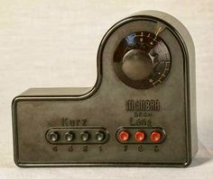 A Membra radio set from the Nazi era which could only pick up official Nazi radio stations. -