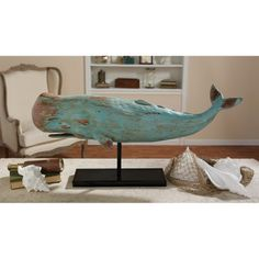 Design Toscano Folk Art Whale Statue - SD1120725