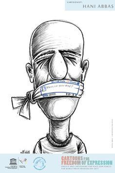 """""""Καρτούν για την ελευθερία της έκφρασης"""" για την Παγκόσμια Ημέρα Ελευθερίας του Τύπου 2017"""