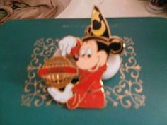 Mickey and Coke/Cola Large pin Mickey with scorcer hat double pin 23/4 by 13/4pi