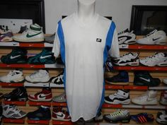VTG Nike Sportswear Athletic Shirt 1980s 80s White Blue tag Black XL NWT USA #Nike #ShirtsTops