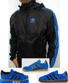 adidas Seersucker Windbreaker in black royal blue looks superb with any of  this trio of e87ff2419cf