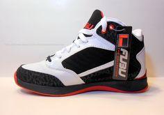 FUBU Mens Basketball Shoe COLLINS White/Black/Red Brand New wBox USA Size 8.5 M #Fubu #BasketballShoes