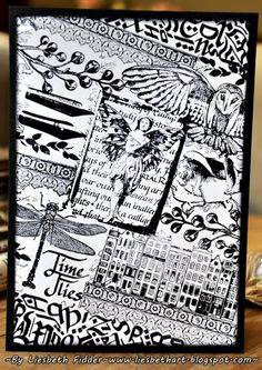 Art Journey Design-team: Challenge #62: Black & White Atc, Your Cards, Journals, Butterflies, Card Ideas, Mixed Media, Stamps, Wings, Challenges