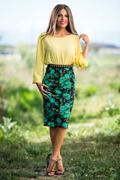 Floral Madness Pencil Skirt | SexyModest Boutique